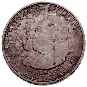 1923-S 50C Monroe Commemorative Half Dollar in XF Condition, Original Toning