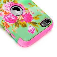 iPod Touch 5th Gen -HARD & SOFT RUBBER HIGH IMPACT ARMOR CASE WAVE HYBRID COVER