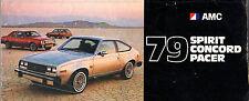 American Motors 1979 USA Market Foldout Sales Brochure Spirit Pacer Concord AMX