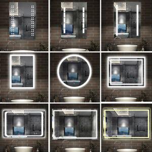 LED Badspiegel Wandspiegel mit Beleuchtung TOUCH / SENSOR Beschlagfrei Spiegel