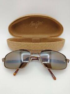 Maui Jim Kahuna Bronze Aviator Sunglasses Frames with Case MJ-162-23, No Lenses!