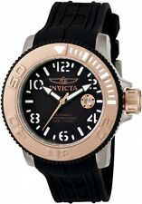 INVICTA SEA HUNTER AUTOMATIC DATE BLACK DIAL POLYURETHANE MEN'S WATCH 1080 NEW