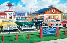 Jigsaw Puzzle Car Marina Yacht Club Lap of Luxury 1000 pieces NEW made in USA