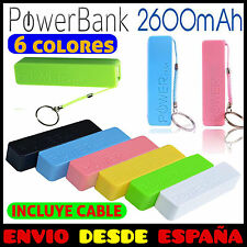 BATERÍA EXTERNA POWER BANK 2600mAh CARGADOR EXTERNO UNIVERSAL MOVIL, TABLET
