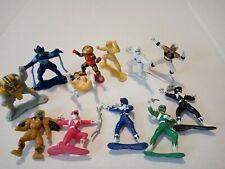 12 PVC Mighty Morphin Power Rangers Mini Figures 1991-95