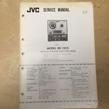 Original JVC Service Manual for the RD-1555 Reel Tape Deck Recorder
