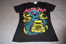 Alesana Music Rock Band Skull Snake Trucks T-Shirt Womans Large