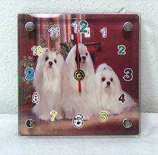 Standuhr für Kinder mit Hundemotiv 15cm groß Uhr