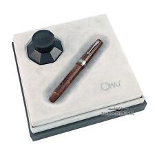 Omas Vintage Paragon Burlwood Celluloid Ruthenium Trim Fountain Pen #44/60