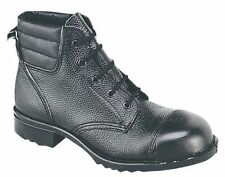 Grafters M492A Mens External Steel Toe Lace up Safety Work Industry BOOTS Black UK 9