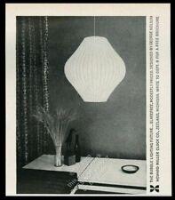 1959 George Nelson modern Bubble Light lamp photo Howard Miller vintage print ad