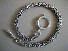 Vintage Unique  S/Silver  Pocket  Watch Chain  11in. Long
