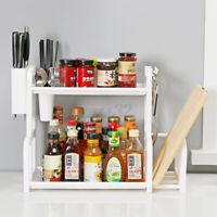 2 Tier Kitchen Dish Bowl Rack Spice Herb Curry Jar Rack Holder
