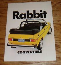 Original 1982 Volkswagen VW Rabbit Convertible Sales Brochure 82