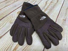 The North Face Women's Medium Fuzzy Fleece Etip Gloves Color Brown GUC