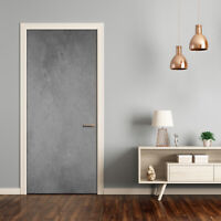 Self adhesive Door Wall wrap removable Peel & Stick Decal Concrete background