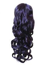 New Long Deep Purple/Plum Wig Glamour Cosplay Dress up Fancy Dress Costume BNWT