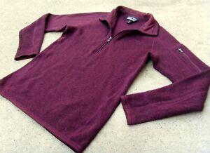 PATAGONIA Better Sweater 1/4 zip pullover Fleece Jacket women's Sz XS Burgundy