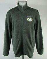 Green Bay Packers NFL Men's Gray Full Zipper Soft Shell Jacket