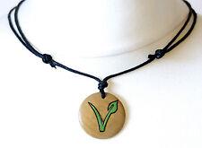 Vegan Gifts Vegan Necklace Vegetarian Symbol Pendant Mens Ladies Jewellery