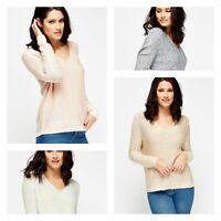 Ladies Pimkie Vneck Cardigan Full Sleeves Knitwear Christmas Sweater Party Tops
