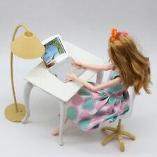 Scale Dollhouse Furniture FOR Blythe House Office Desk Lamp Laptop Chair TOYS