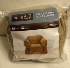 Sure Fit - One Piece Chair Furniture Slipcover = Taupe {New/Other}.