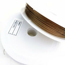 Wholesale 100 Meter (1 roll) light coffee Tiger Tail Beading Wire/0.38