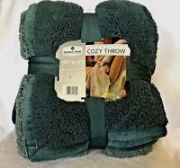 Cuddly U0026 Cozy Cabin Sherpa Plush Throw Blanket Reversible U0026 Oversized 5 ...