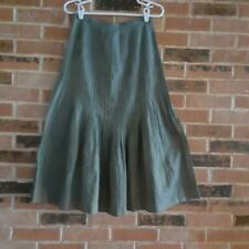 Nobu Nakano Blue/Green Stitched Down Pleated Skirt - Size 8