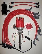Small Cap CHEVY CORVETTE Tach Drive 396-454 RED HEI Distributor+Black Coil+wires