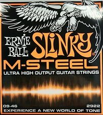 3 Pack!  Ernie Ball 2922 Slinky M-Steel Guitar Strings 9-46 - Ships Free U.S.!