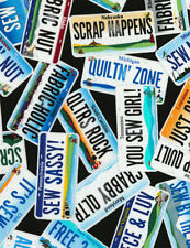 QUILTERS NUMBER PLATES Fabric Fat Quarter Cotton Craft Quilting ROW BY ROW