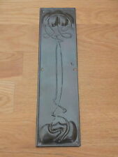 BRONZE FINISH ART NOUVEAU FINGER DOOR PUSH PLATES FINGERPLATE