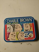 Vintage 2005 Ragold Peanuts CHARLIE BROWN Candy Tin Box Container bubble gum