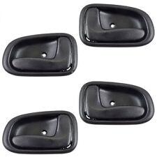 Auto Car Inner Inside Door Handle Black Set of 4 Kit for 93-97 Toyota Corolla