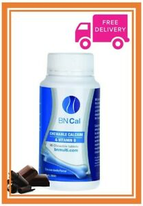 BN Cal-Calcium, 90 Chewable Tablets-Creamy Chocolate/Vanilla Flavour - FREE Post