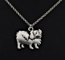 PEKINGESE DOG Charm, Pendant with .925 Silver Necklace - R222