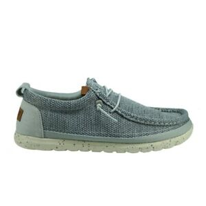 Wrangler KOHALA WALLABEE Mens Casual Lace-Up Cushioned Loafer Shoes In Ice
