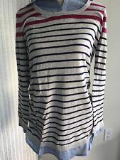 NWT! Oh Baby Motherhood Maternity XL Long Sleeve Lightweight Sweater Striped
