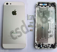 Coque Arrière Chassis iPhone 5 Blanc / Argenté avec boutons et tiroir sim