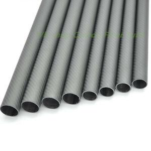 Matt Roll Wrapped OD 25mm ID 22mm*470mm Length   3K Carbon Fiber Tube/Pipe 25*22