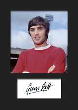 George Best Signed Photo A5 Mounted Print - FREE DELIVERY