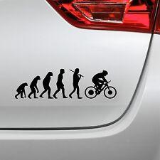 Auto Aufkleber Evolution Fahrrad fun Bike Sticker