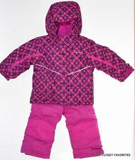 New COLUMBIA Snowsuit Bib Pants Coat Jacket set Girls 3T Winter Warm Waterproof