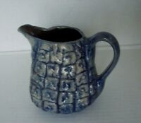 Beaumont Brothers Pottery BBP Handdcrafted Pitcher Blue Pineapple Design