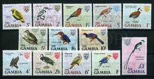 024046 BIRDS set of 13 stamps GAMBIA MNH #24046