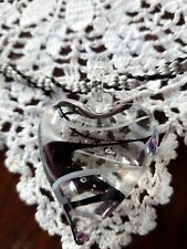 Murano-style Glass pendant with hand made Kumihimo Japanese braided necklace