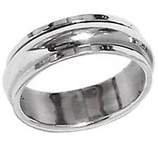 *SPINNER RING*__HIGH POLISHED BAND SIZE 7__925 STERLING SILVER_NF