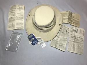 THE TILLEY AIRFLO NYLON HAT LTM3 KHAKI & OLIVE UPF50+ size 7-1/4 SNAP-UP NEW!
